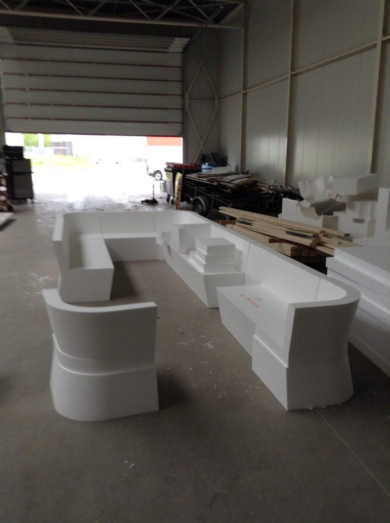 piepschuim op maat gemaakte meubels
