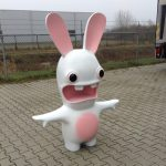 piepschuim op maat wit met roze konijn