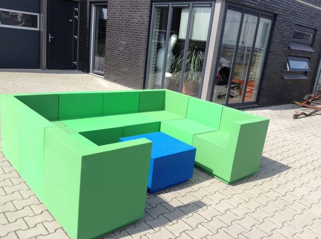 loungeset voor buiten van piepschuim