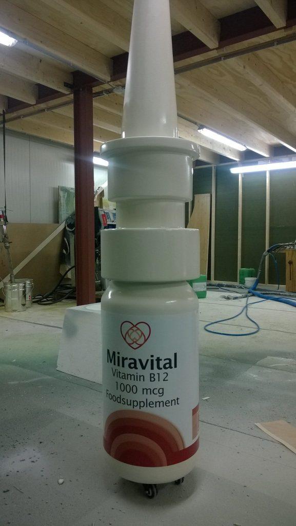 Miravital product mockup piepschuim