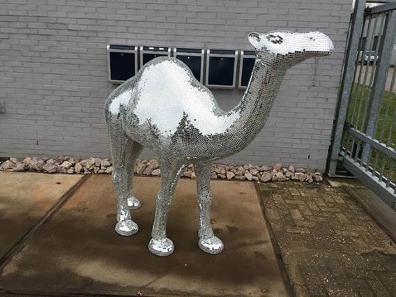 3d kameel van piepschuim op maat