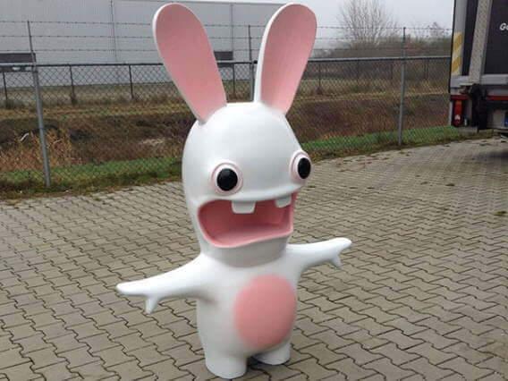 op maat gemaakt piepschuim konijn